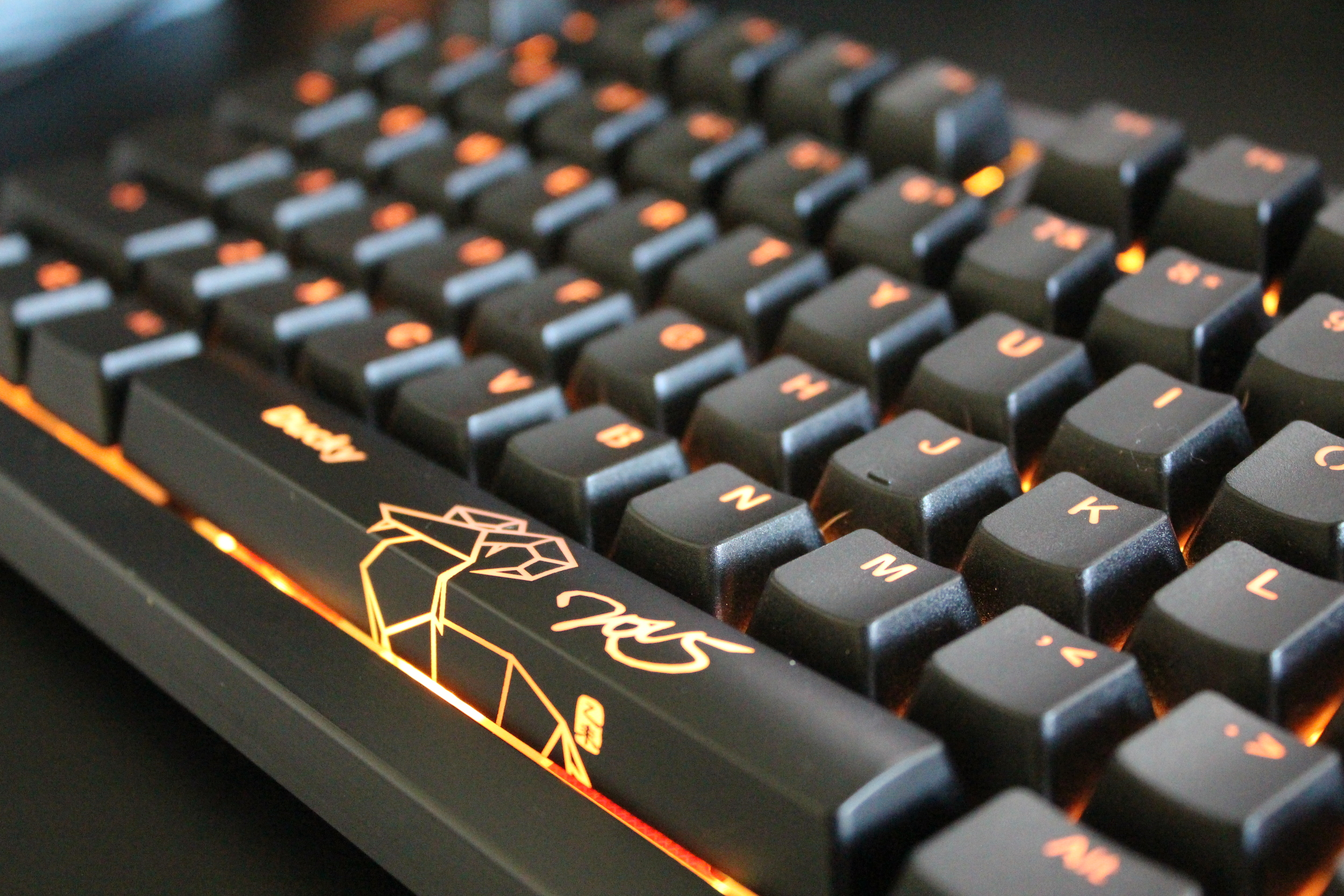 "The Ducky Shine 5 comes with an optional ""Year of the Goat"" spacebar, I love it!"