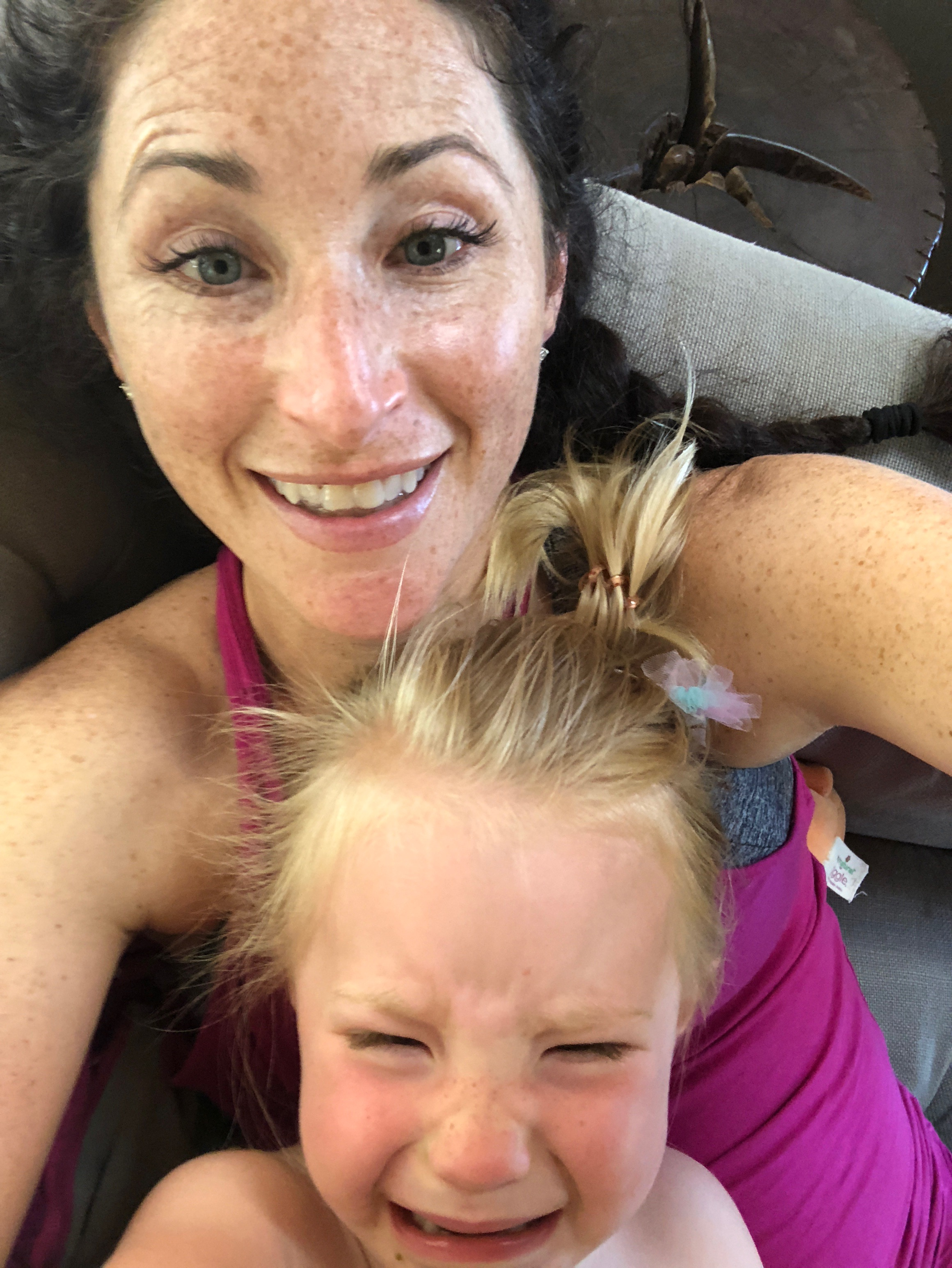 This is what happens when you tell a 3-year-old you can't get on an airplane to Hawaii right now. - Or any one of thousands of other practical things.