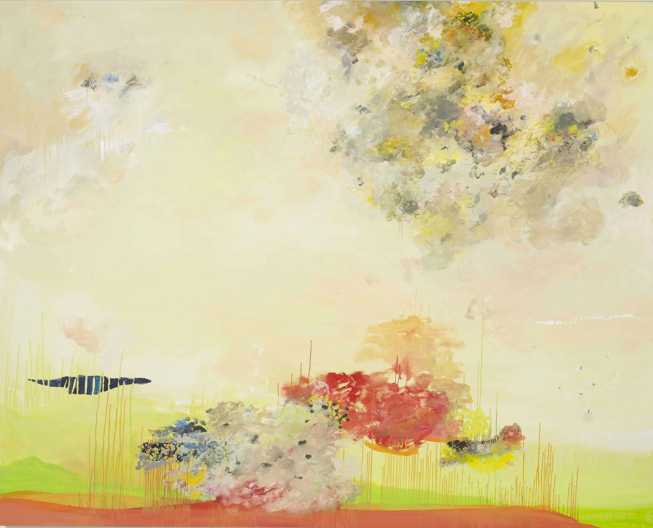 Creamy Drama II , 2010  Oil on linen  72 x 90 inches