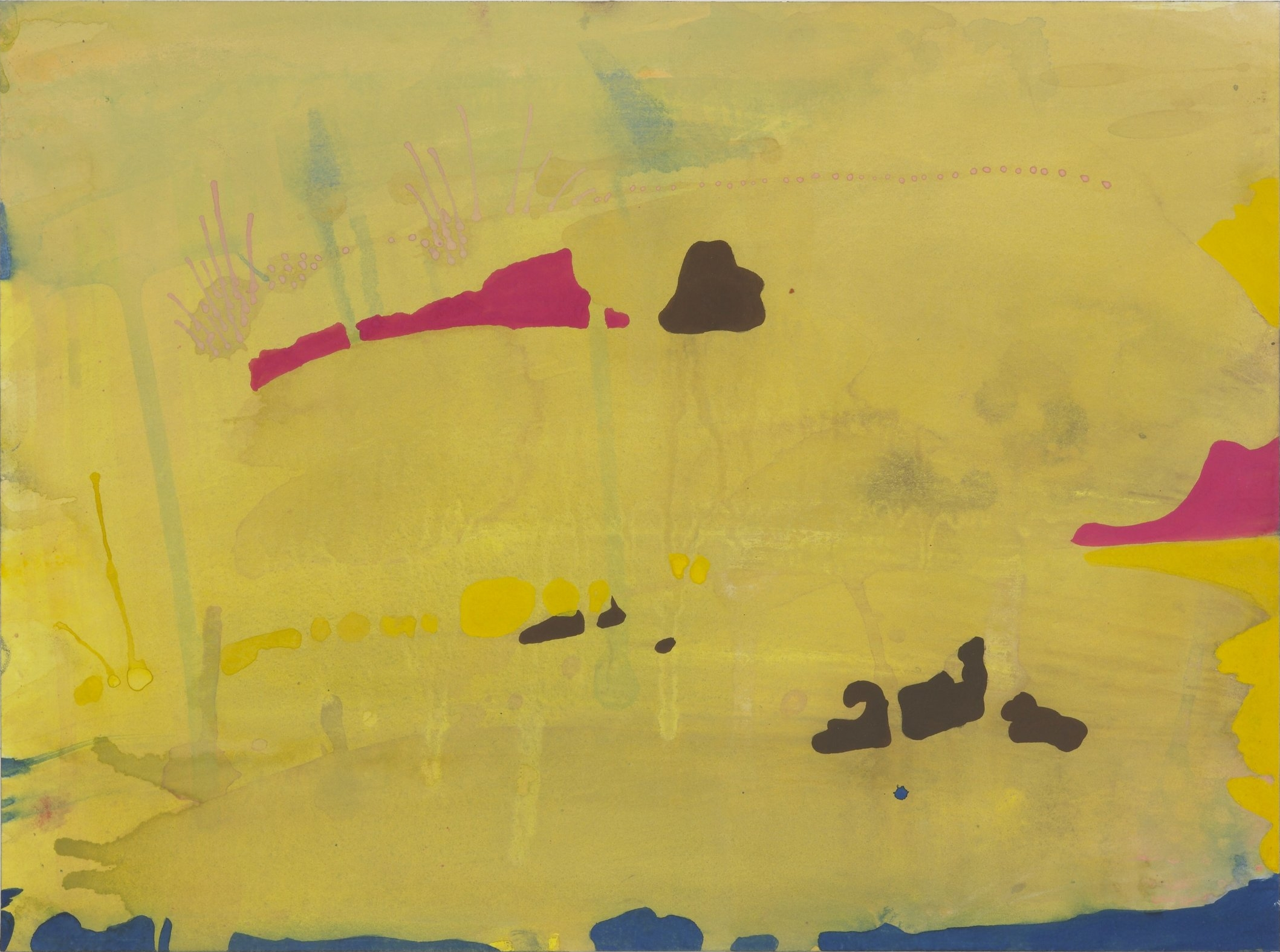 Untitled 3, 1996  Gouache on paper  9 x 12 inches