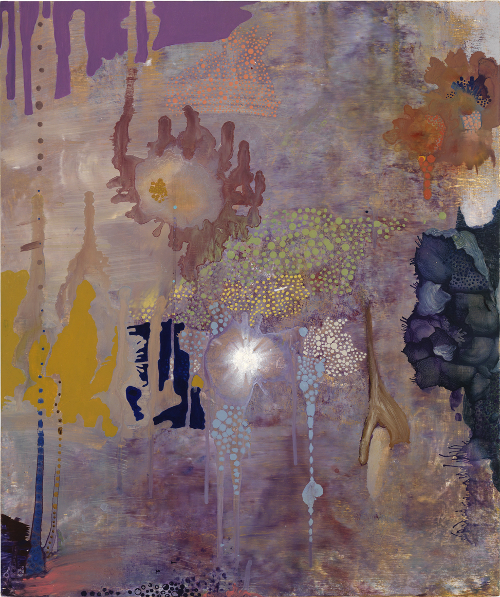 Sky Hunters, 1993  oil on wood  26 x 22 inches