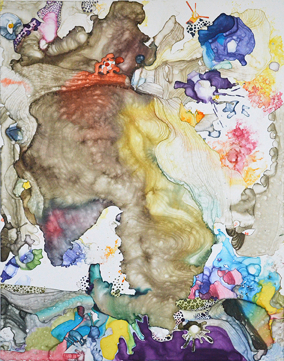 Constellation 7,  2017  Watercolor monotype  24 x 18 inches  Center Street Studio