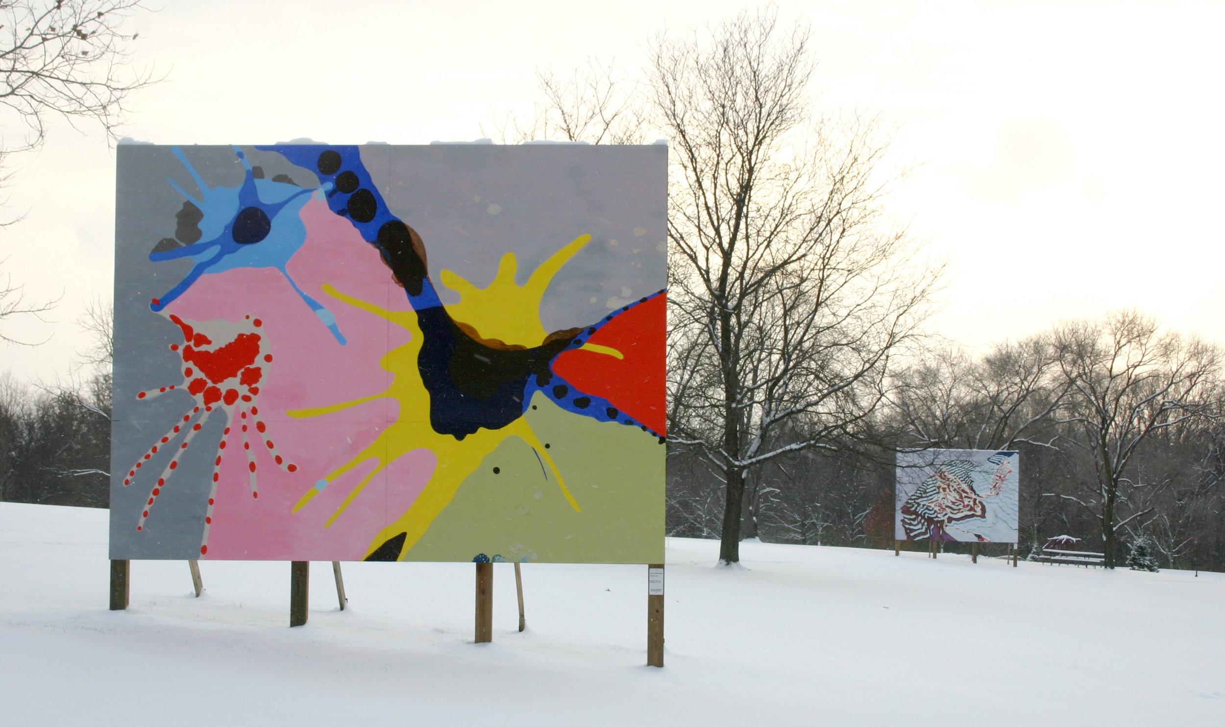 The Dance,  2005  acrylic on wood  12 x 16 feet  Laumeier Sculpture Park, Saint Louis