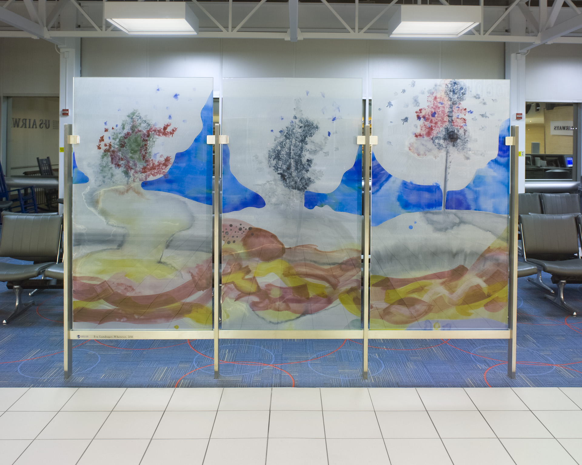 Wherever,  2012  glass  5 feet 6 inches x 9 feet  Lambert International Airport, Saint Louis