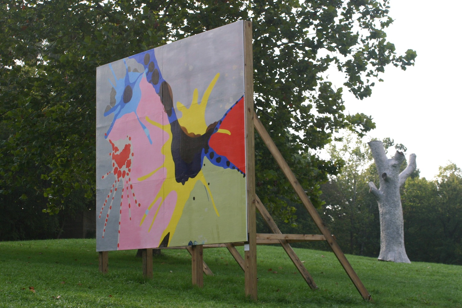 The Dance,  2005  acrylic on wood  12 x 16 feet  Laumeier Sculpture Park, Saint Louis