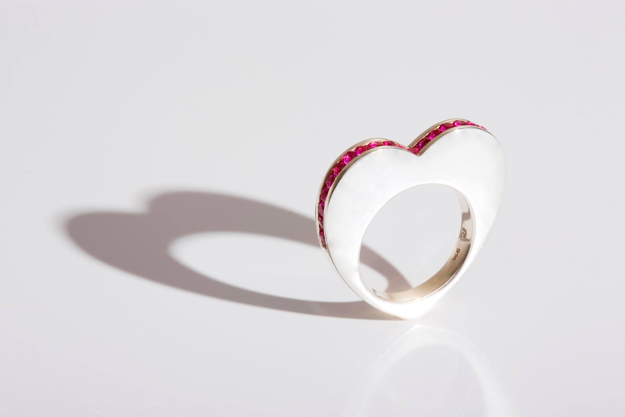 Heart ring, silver, swarovski cubic zirconia.jpg