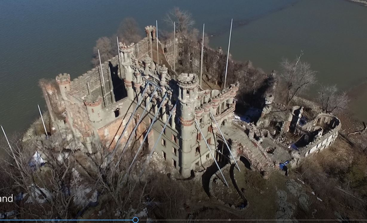 2017 Bannerman's Island aerial video -