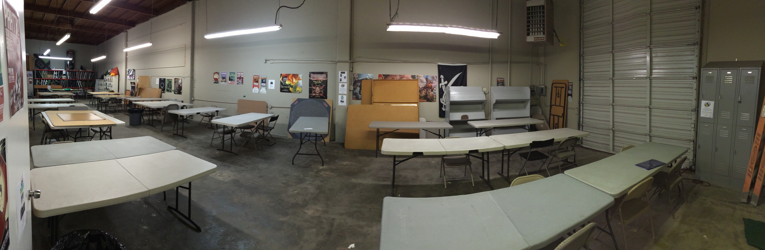 The Dungeon room at Game Kastle can hold 20-25 tables.