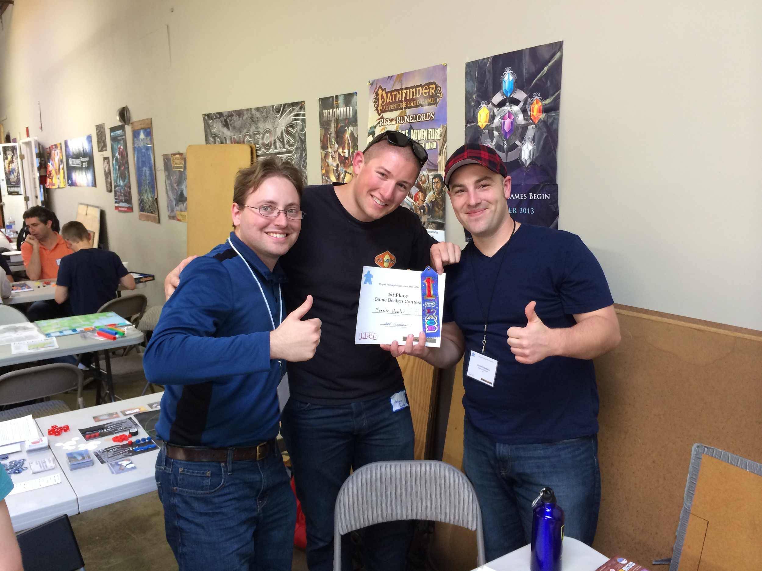 The winning game: Monster Hunter by (L to R) Chris Castagnetto, Antonio Romeo and Grant Rodiek.