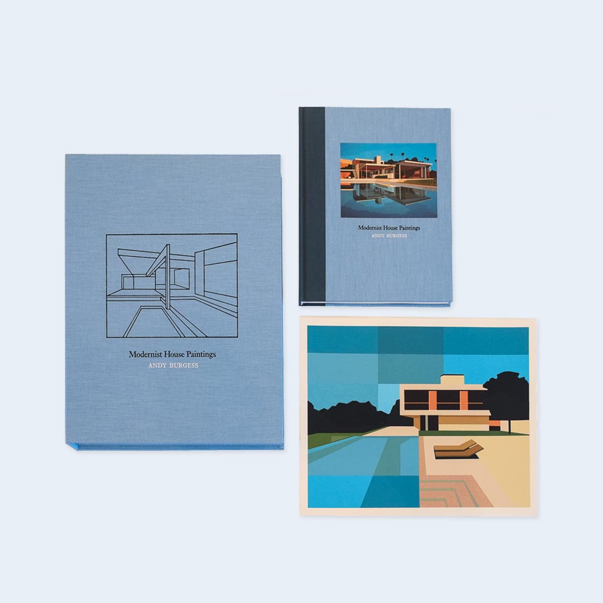 NOW SHIPPING  | ANDY BURGESS |  Modernist House Paintings  (Special Edition) |  Order >