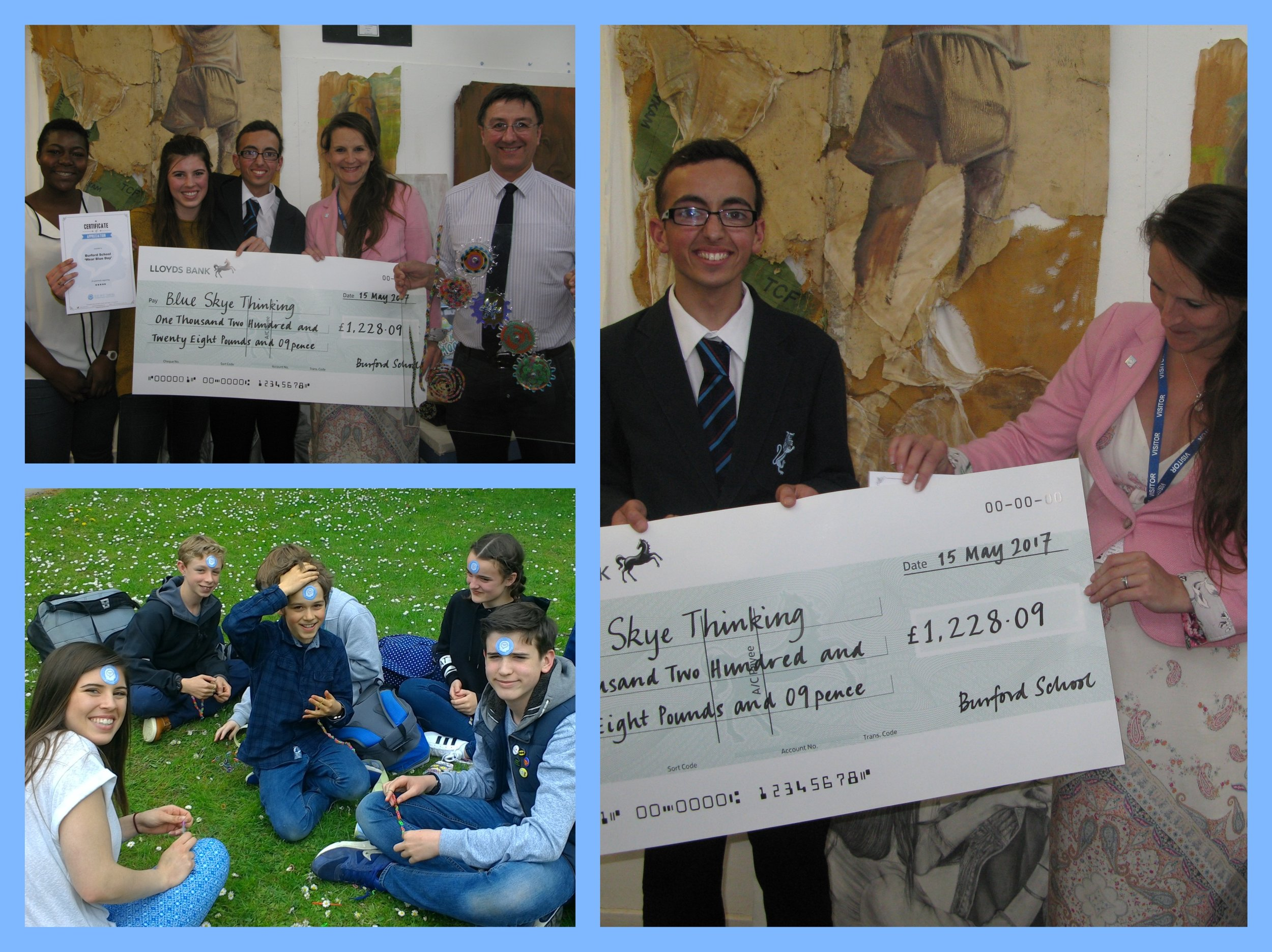 Huge thank you to our Ambassador Jack Godfrey and Burford School for raising a whopping £1228.09 by holding a 'Wear Blue' day. It was an absolute pleasure to meet so many staff and pupils who were all so enthusiastic about the Charity. Happy half term!