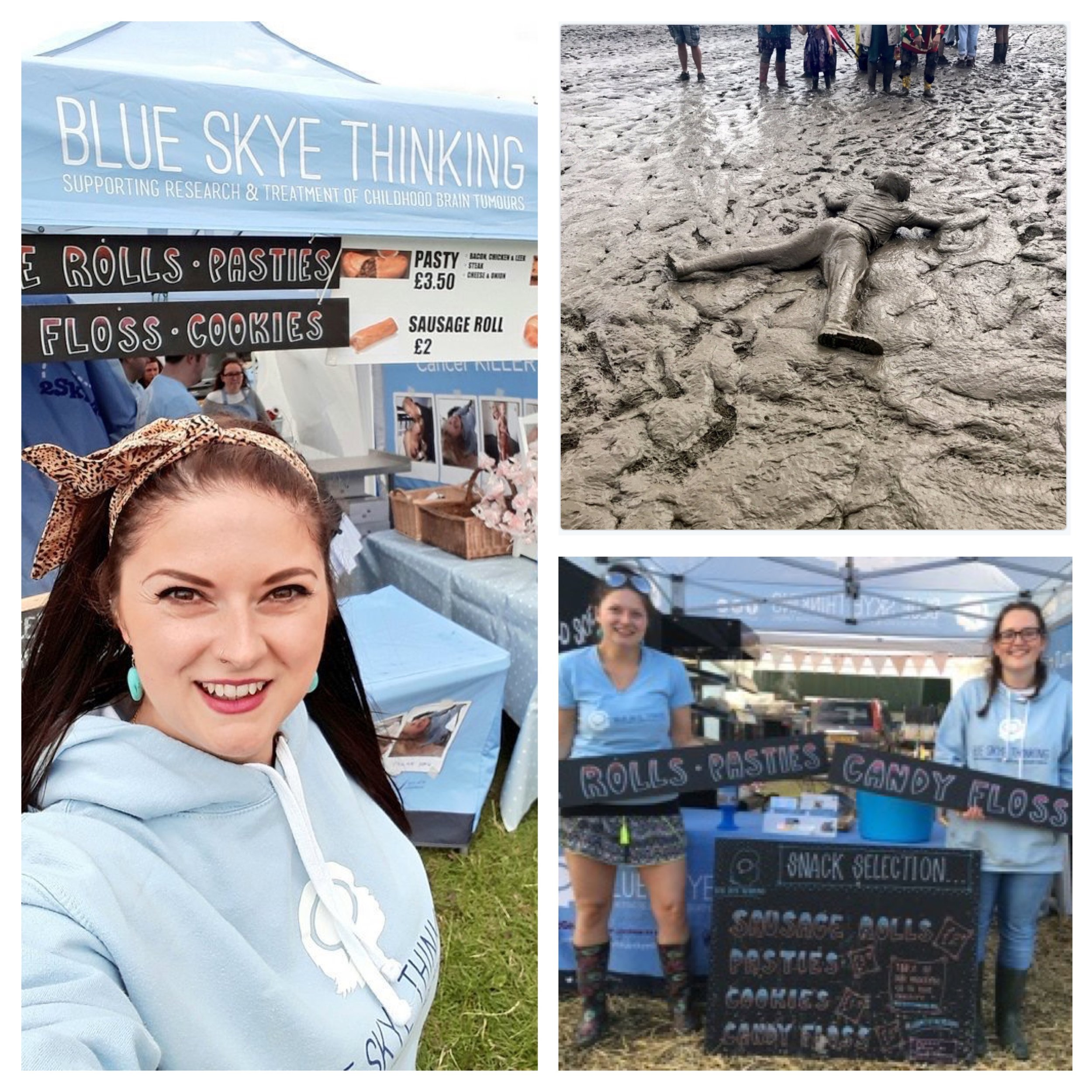 Our amazing volunteers survived the mud at this year's Truck Festival and made a whooping £3,000 for the charity. Despite very challenging weather conditions, team Skye pulled together and remained up beat as they served delicious pasties and sausage rolls to the revellers. A special thanks to the wonderful Sophie Payne who co-ordinated the volunteers, Jon George and Paul Ewart for making some super cool sign boards and James Hart from Delicious of Wantage for generally being an all round amazing guy! Getting closer to our charity targets every day but by crikey, fundraising is not for the faint hearted!! All support gratefully received.