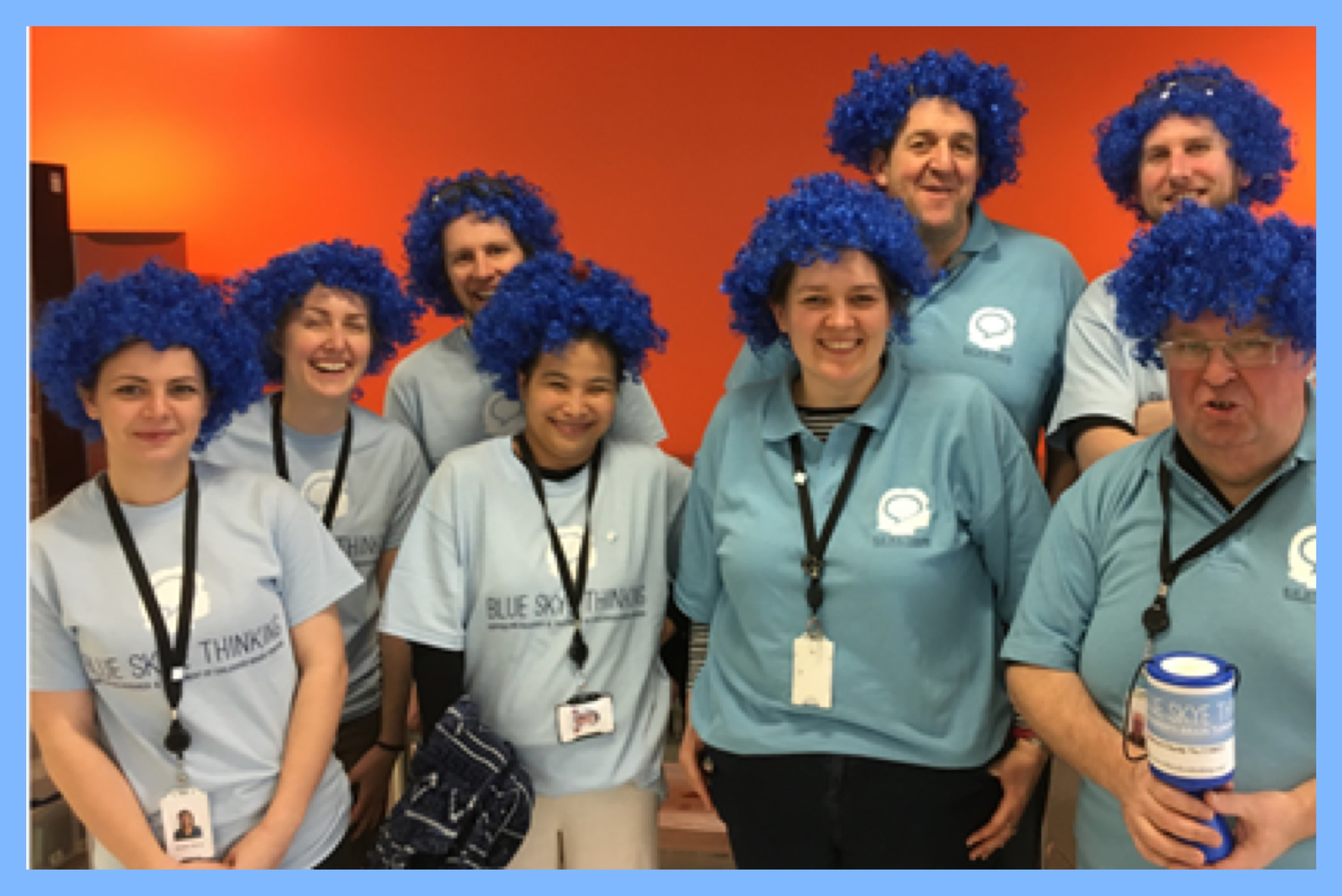 The Sports and Social team at E6 held a 'Blue Wig Wednesday' and raised a brilliant £383.70!!!