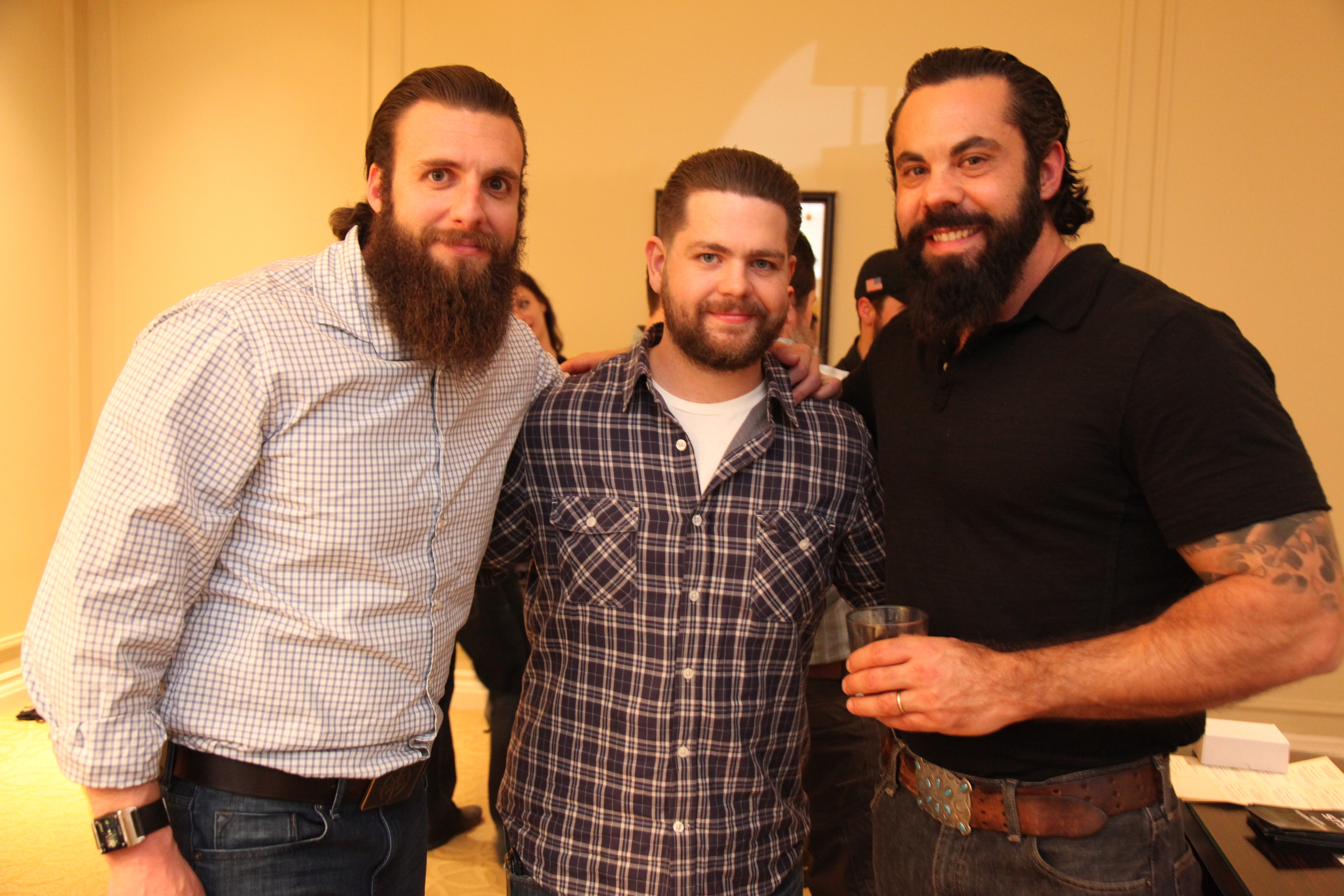 Nick Koumalatsos ,  Jack Osbourne  and  Wes Whitlock  of  Rogue American Apparel .