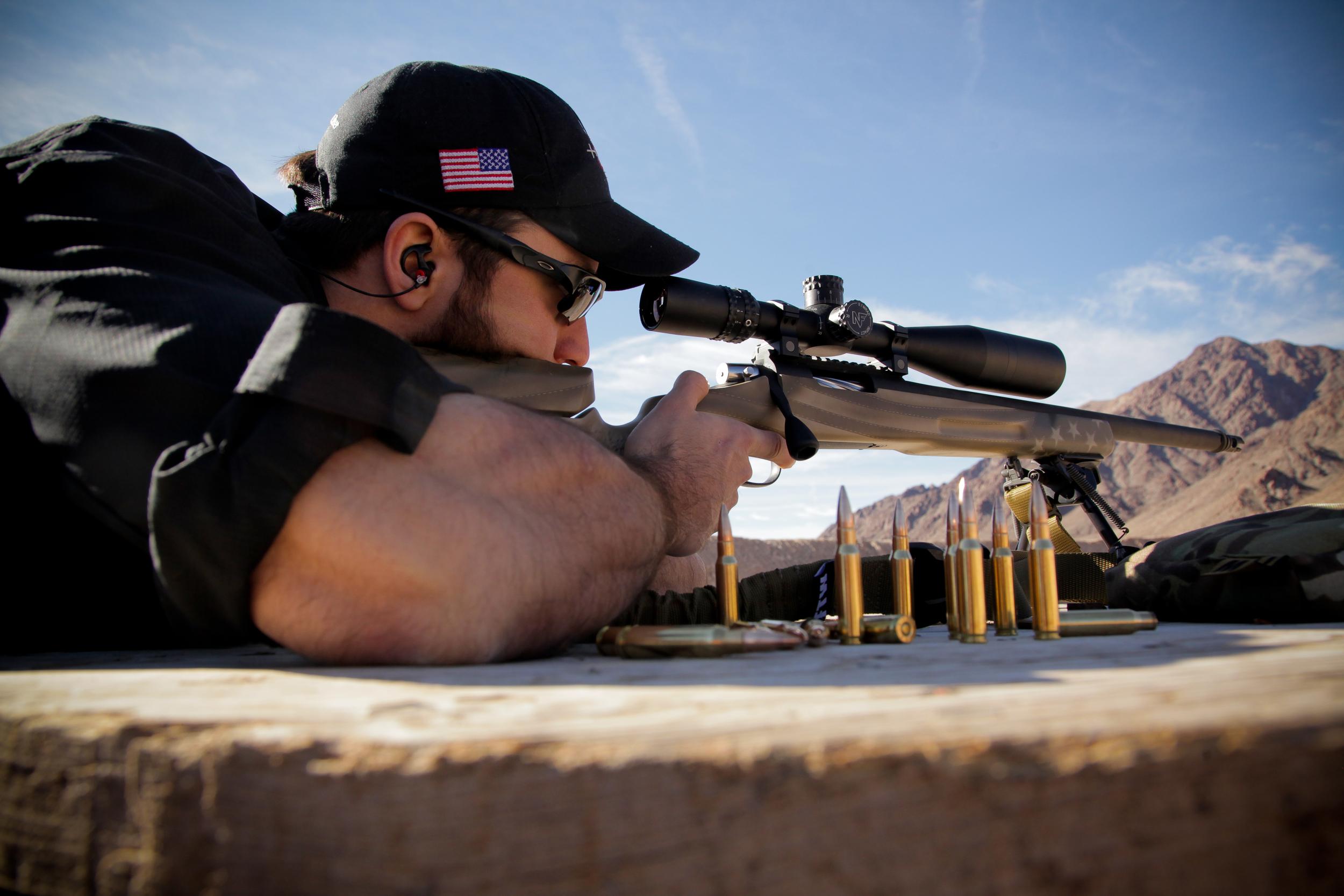 Brady of  5 Toes Custom  shooting the .308