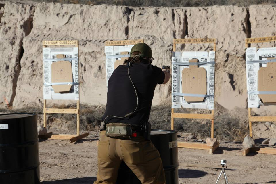 Nick showing how the pros do it on the el presidente shooting drill.