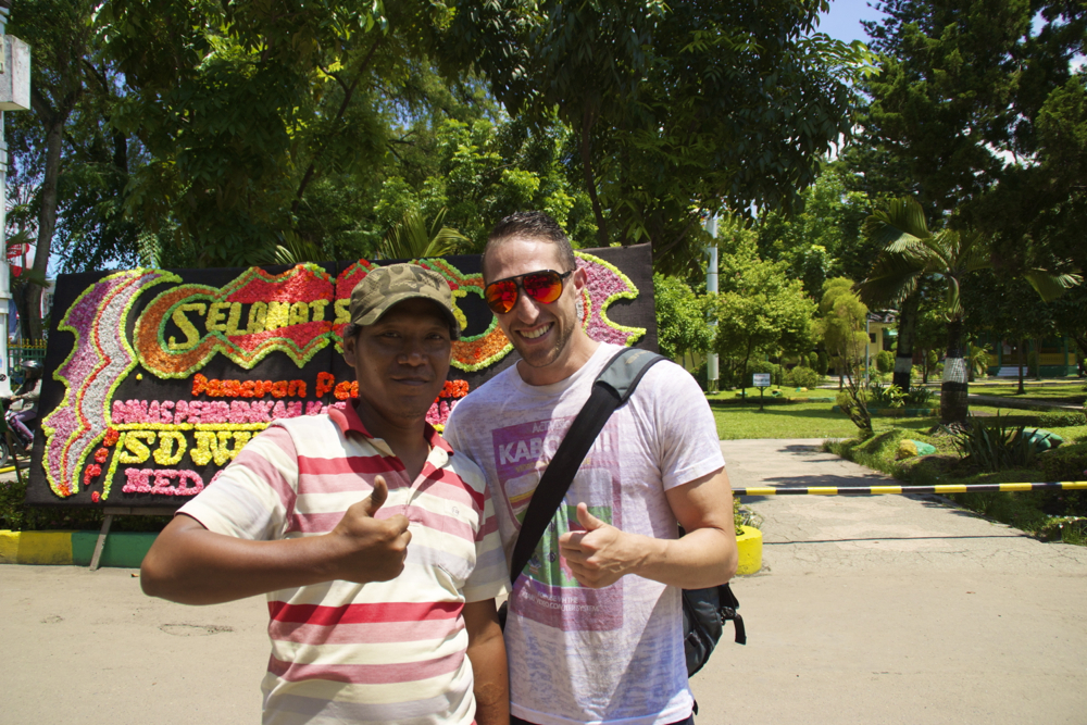 A local and MR TOURIST MAN