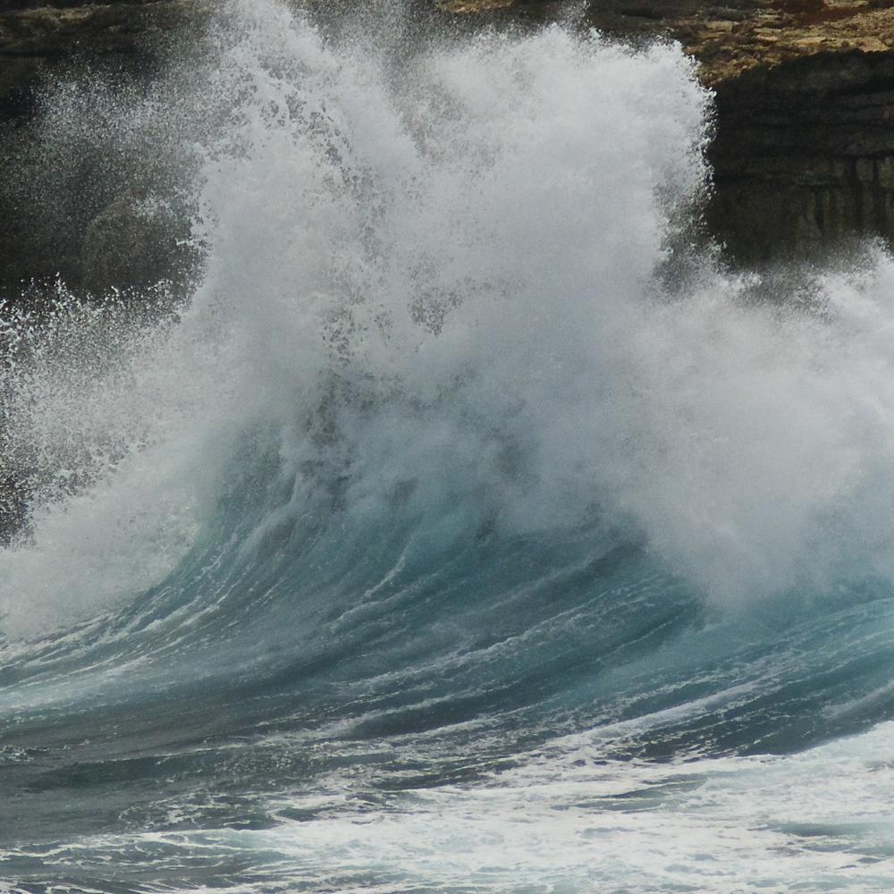 wave meets land