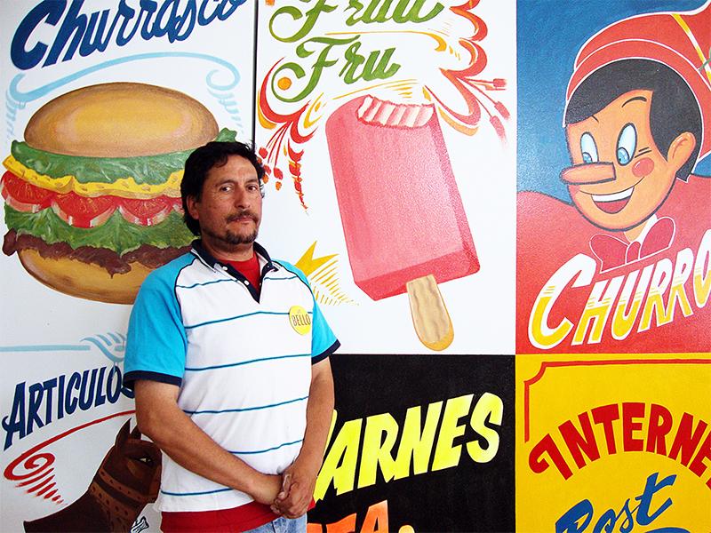 El pintor Juan Bautista,  Valparaiso (CHI).