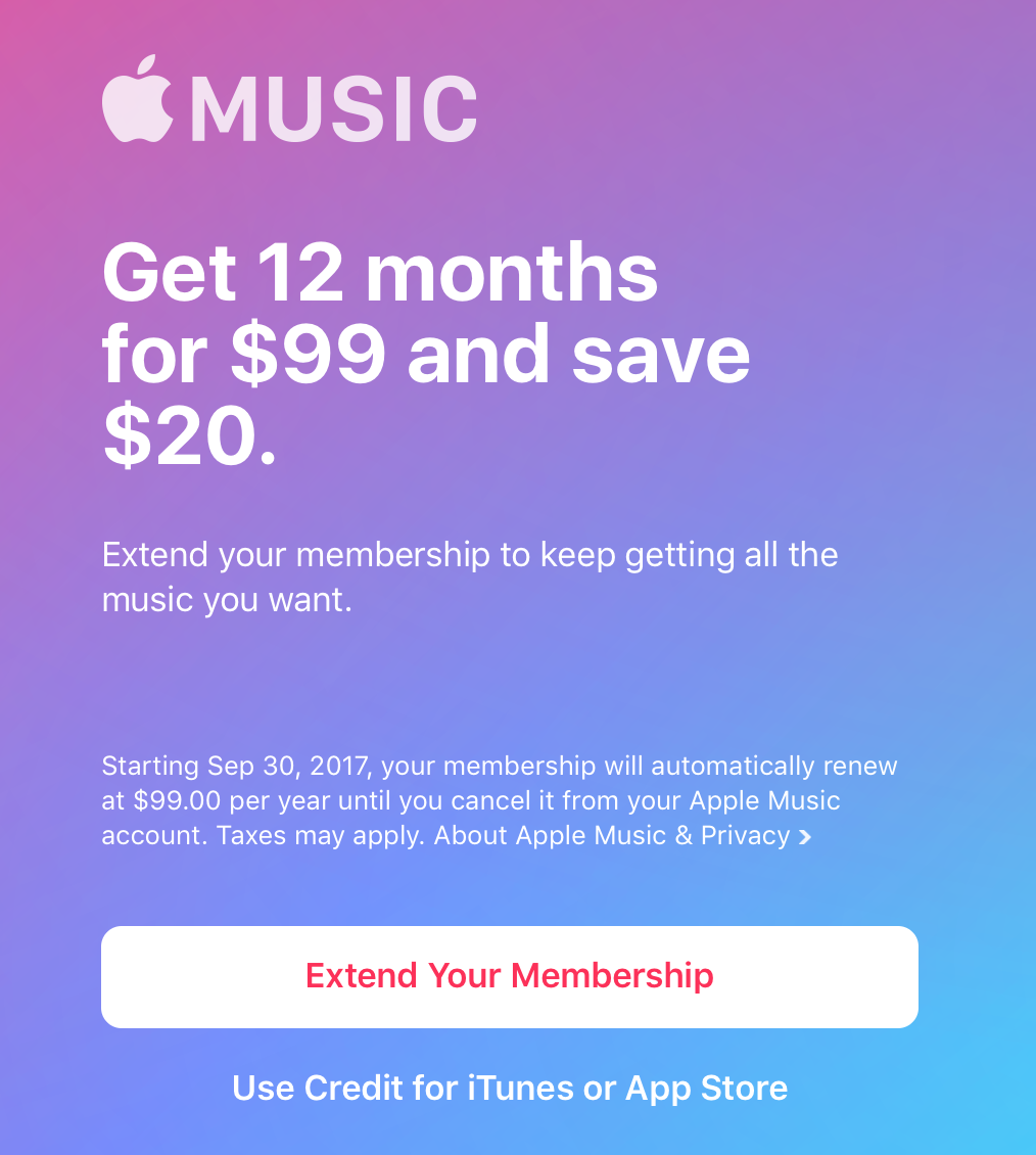 The screen you'll see after redeeming the card's code in iTunes. For me, the code was emailed to me by PayPal Digital Gifts.