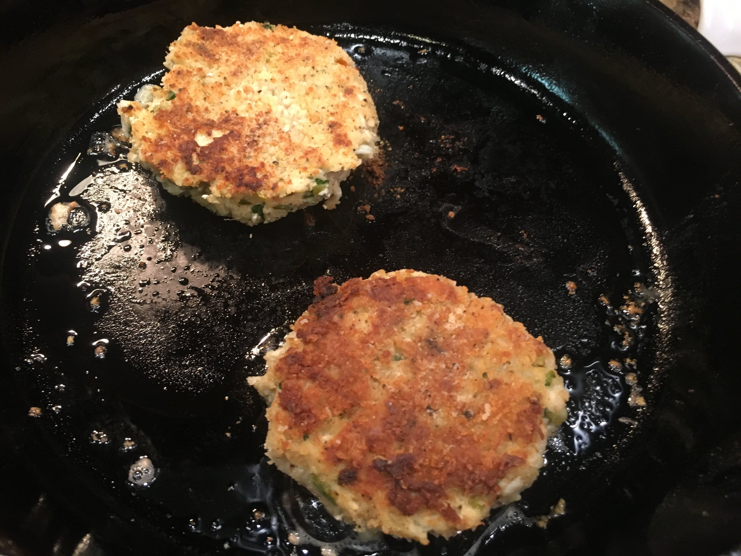 These, like almost everything else, turn out great in a cast iron pan.