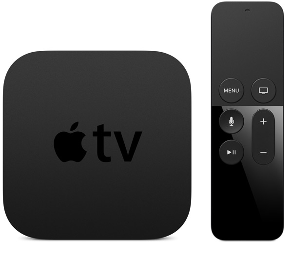 The Apple TV 4, which DOES support Siri via HomeKit on iOS 10.📷 via   Apple.com
