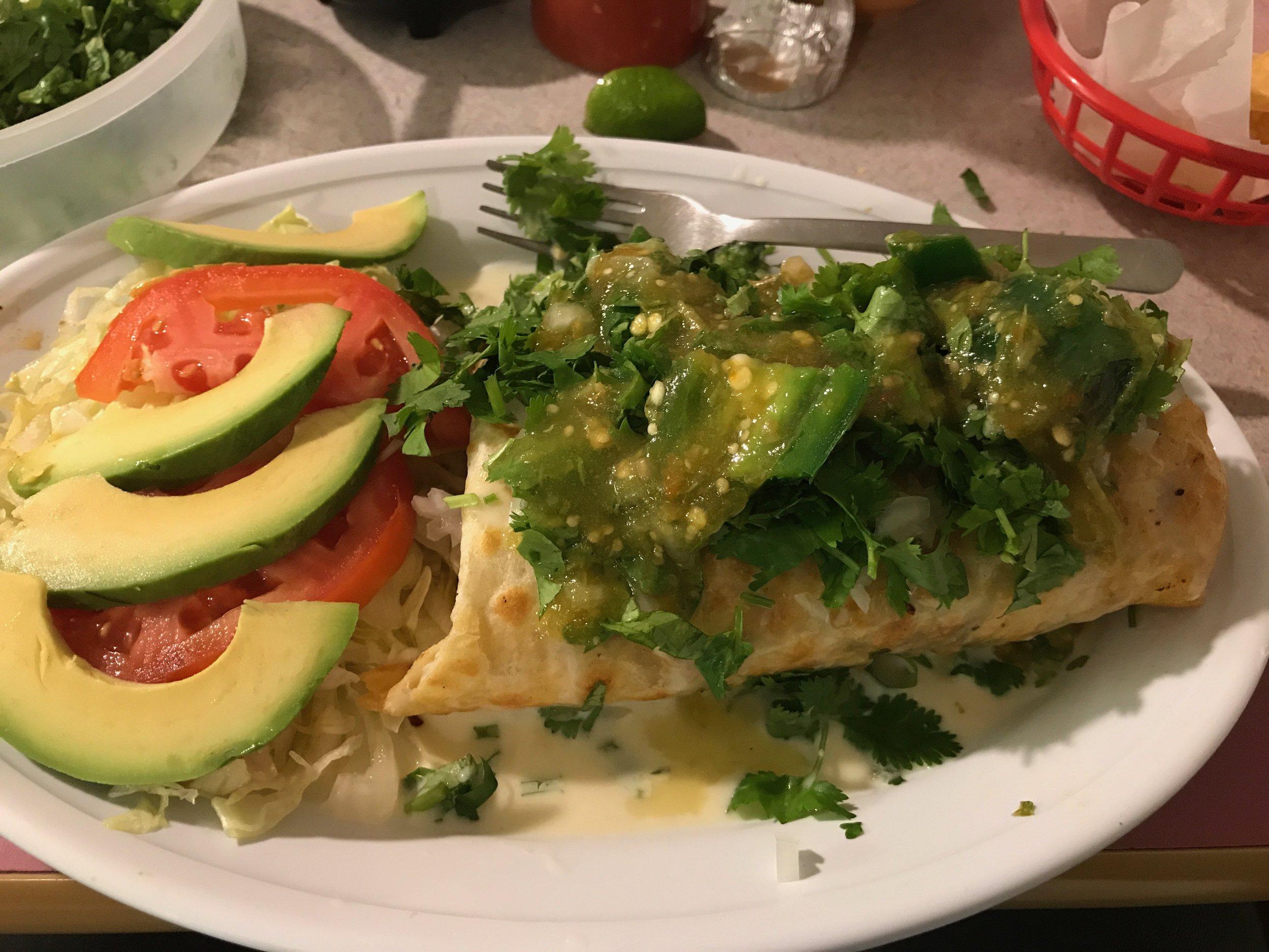Burrito and Salad