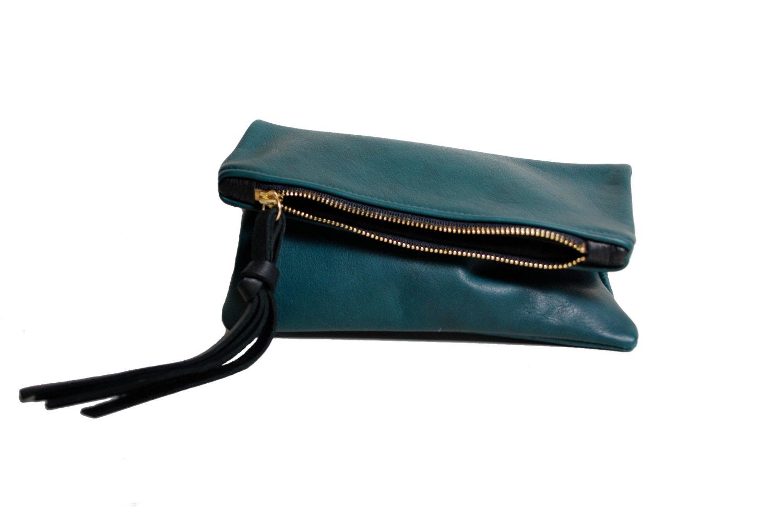 abete green mini fold clutch.jpg