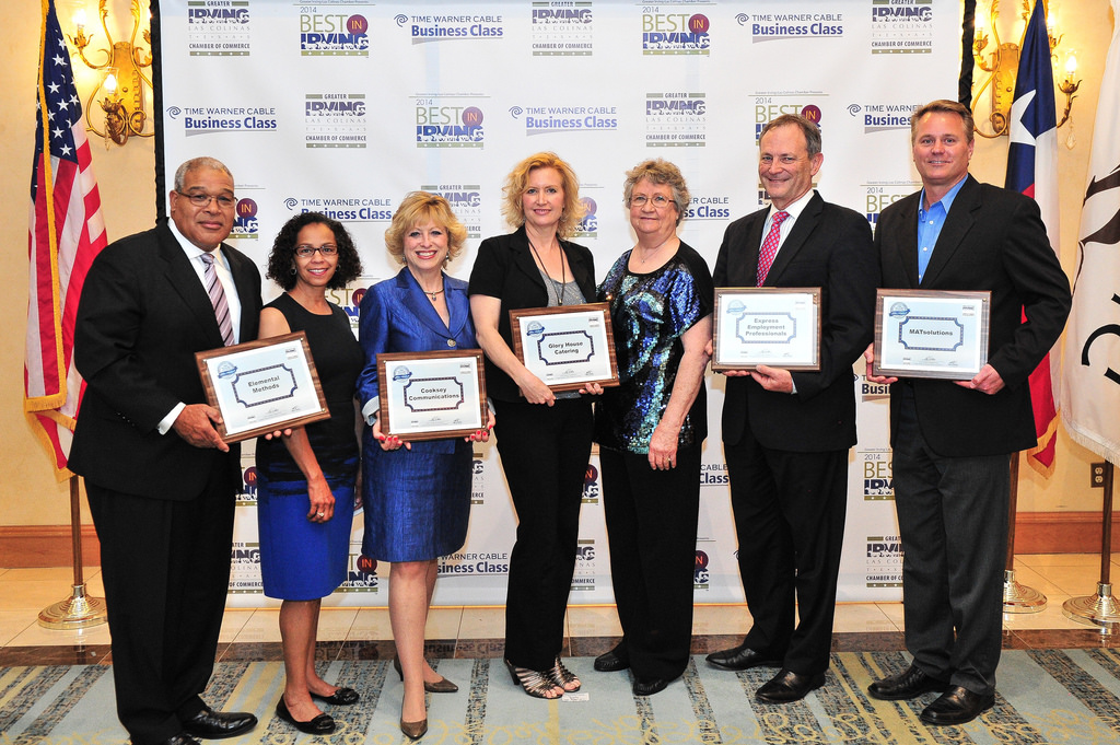 Irving's 2014 US Chamber of Commerce Blue Ribbon Small Business Winners