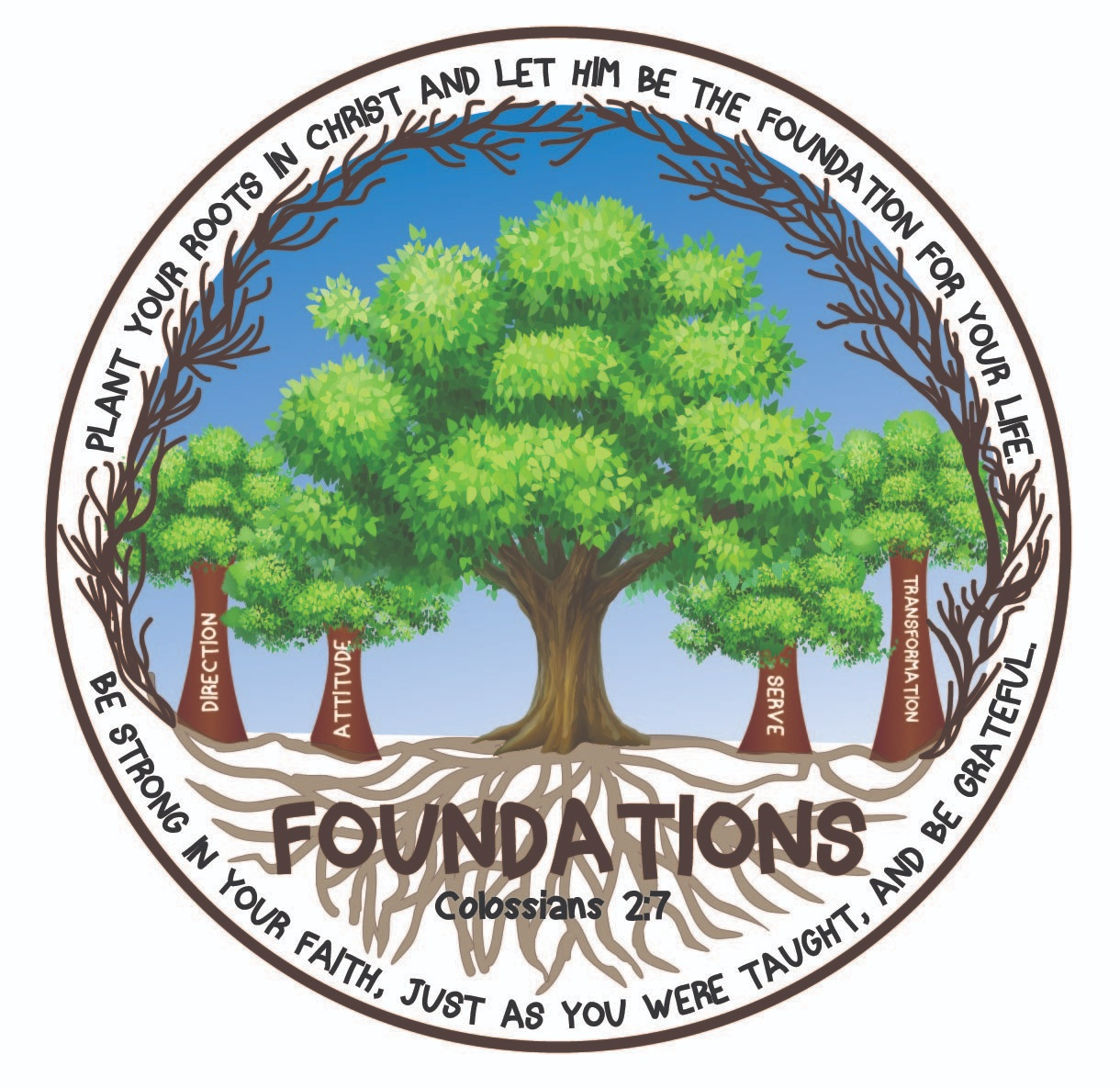 Our 2019 'Foundations' Theme Logo