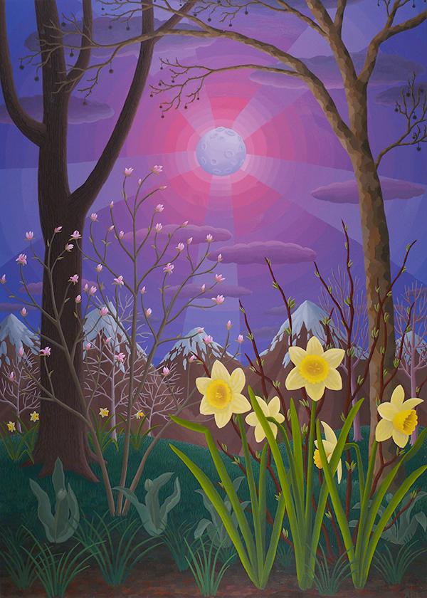 """""""Spring Moonlight"""" 34"""" x 24"""""""
