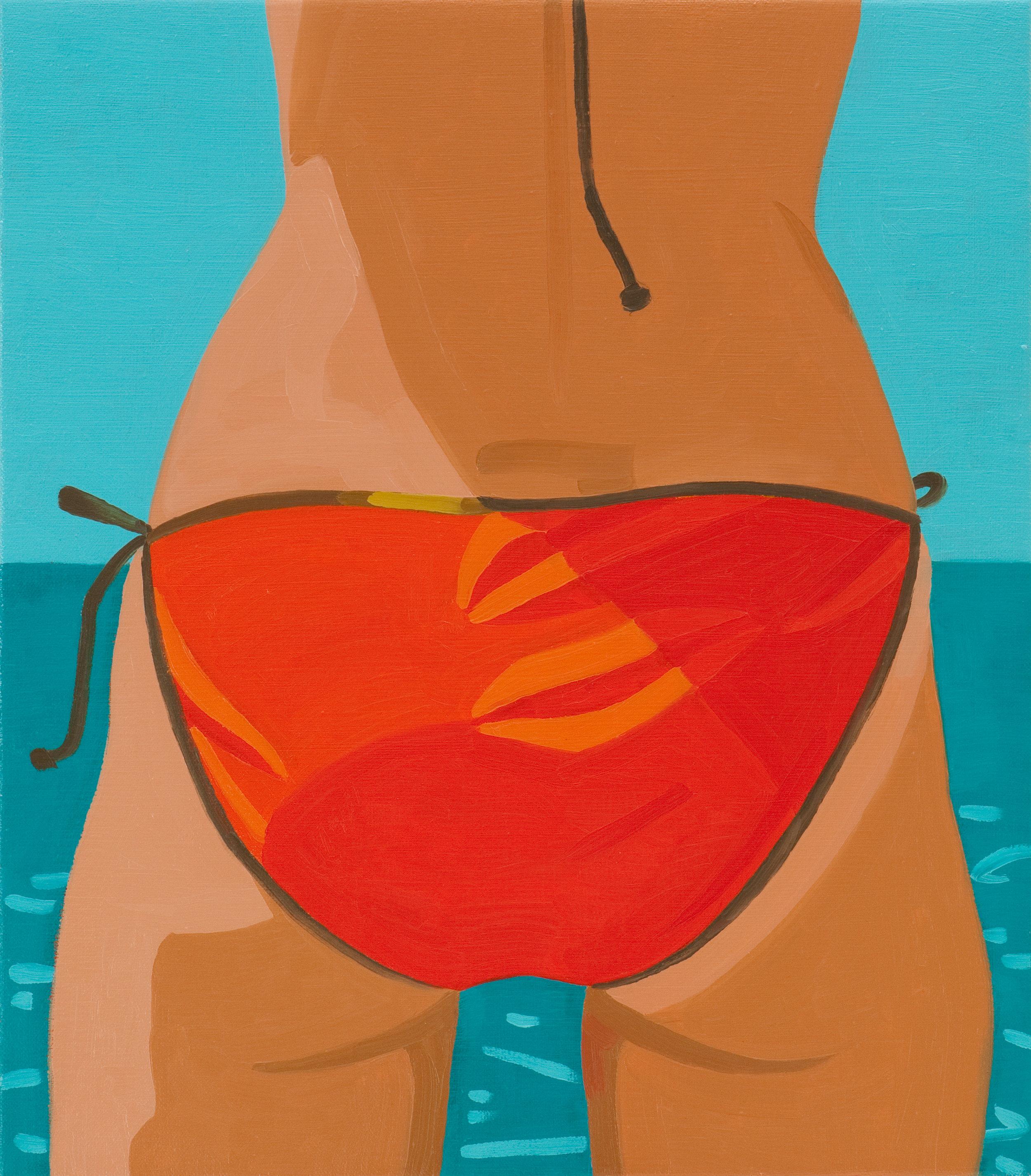 """Julia's Butt"" Oil on canvas, 16""x14"", 2012."