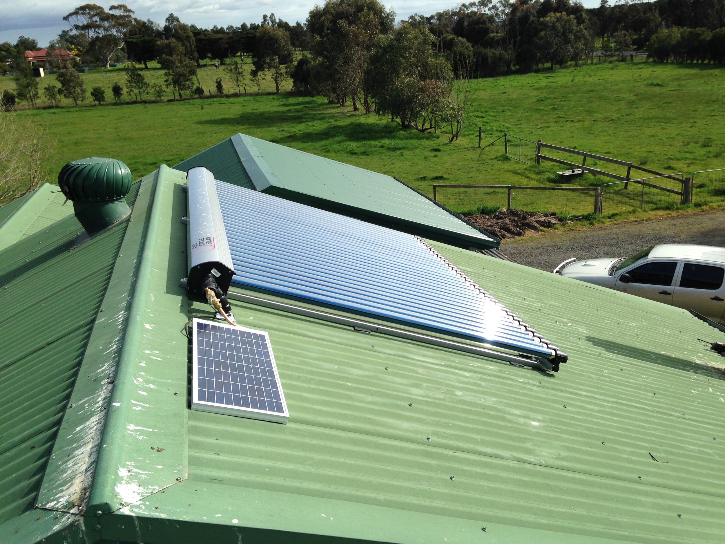 Heat pipe solar hot water