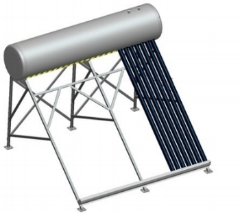 High pitch frame for close coupled solar system.
