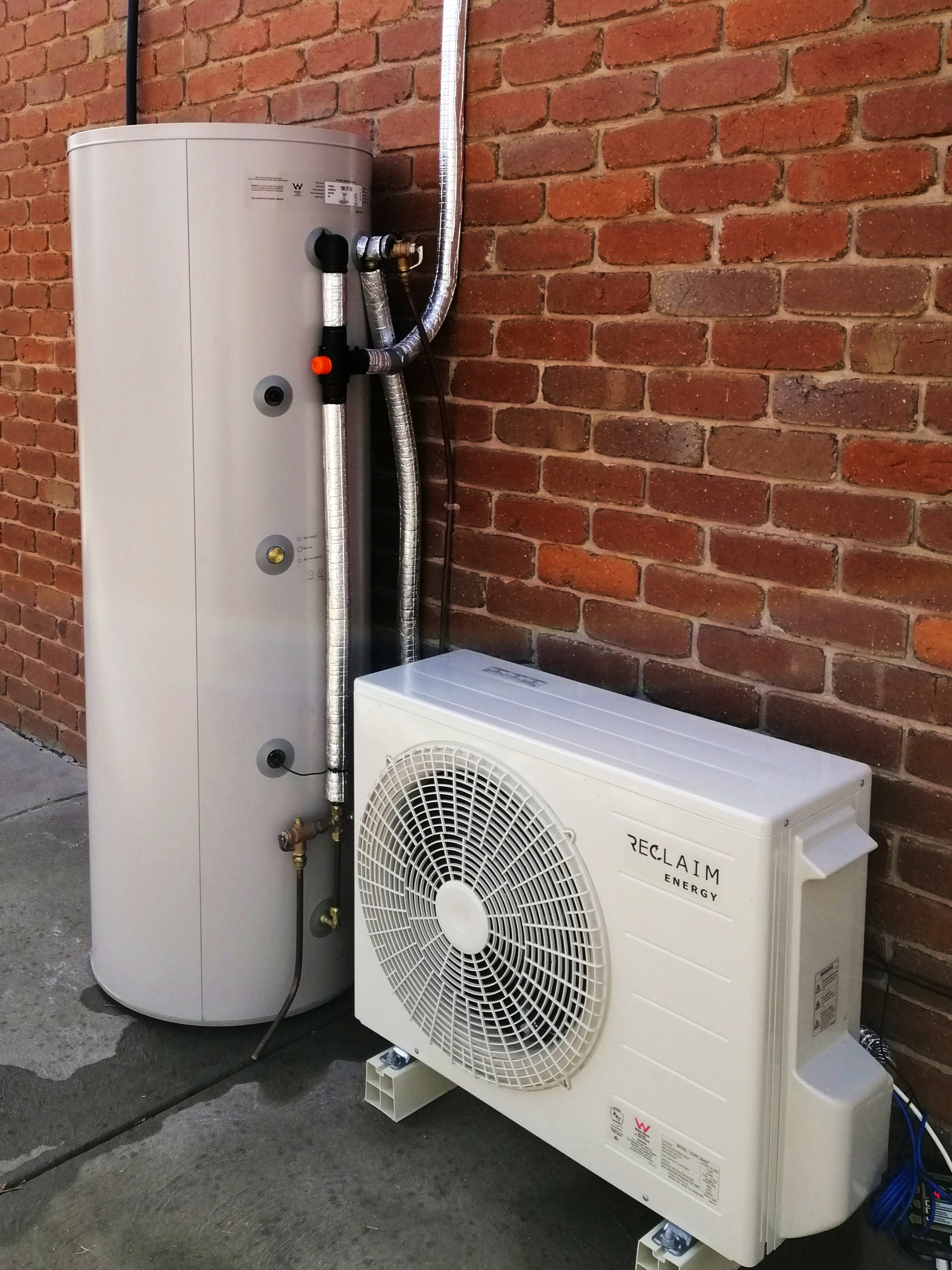 Reclaim Energy heat pump installed