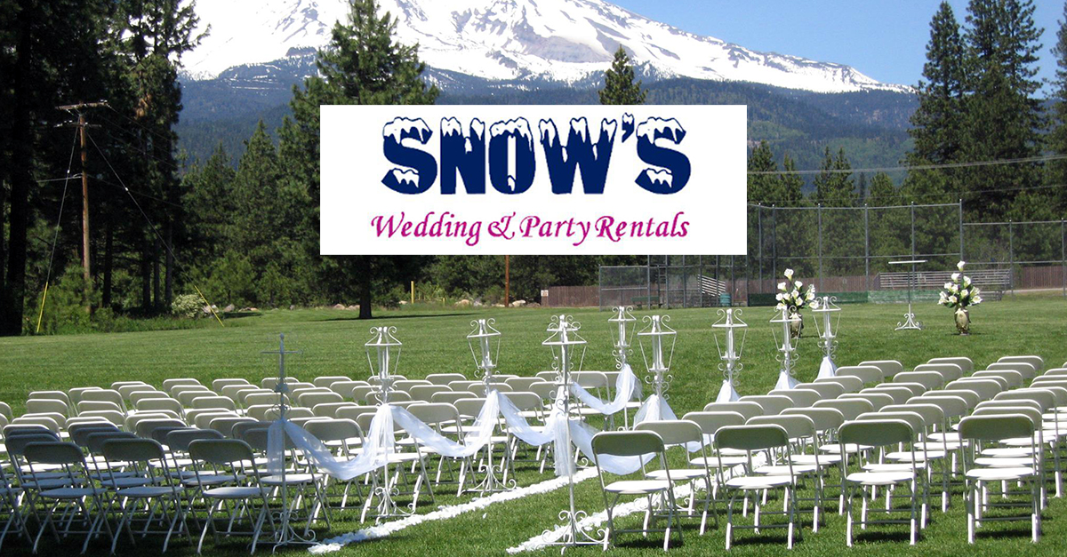 NorCal Weddings | Snow's Wedding and Party Rentals