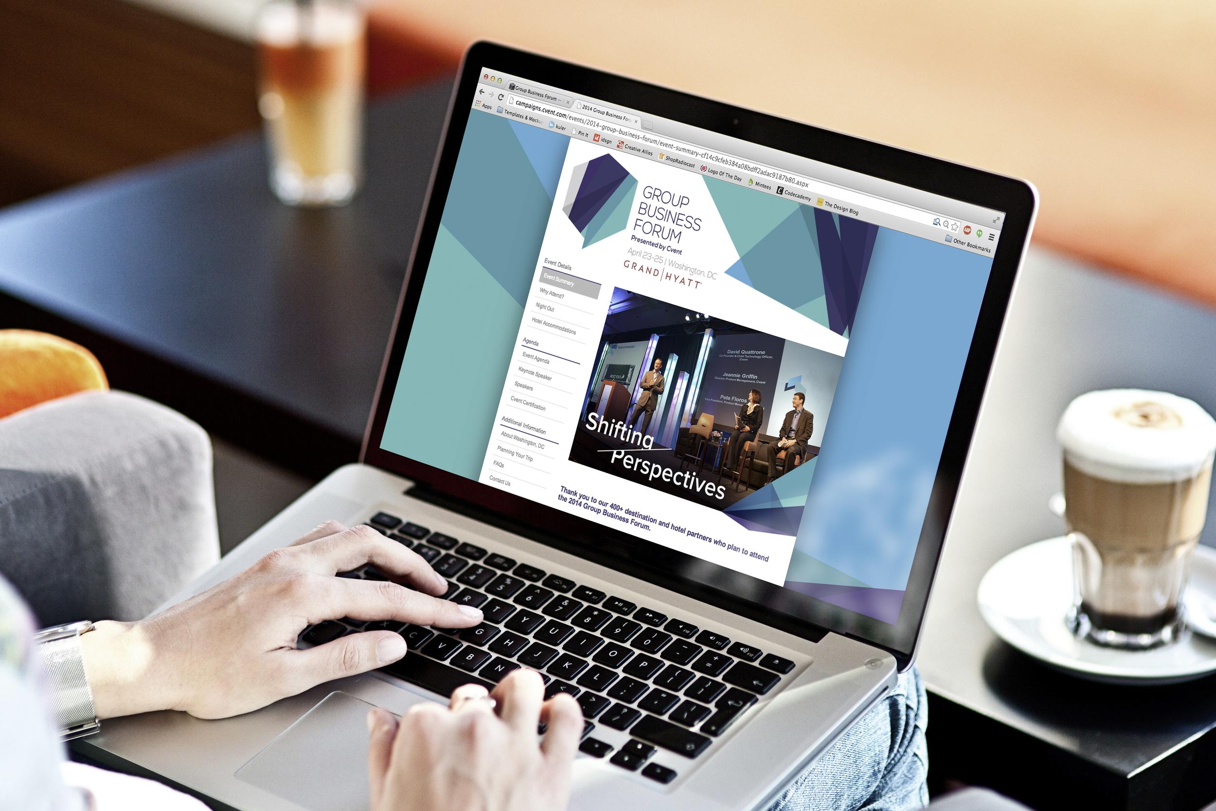 Group Business Forum event website