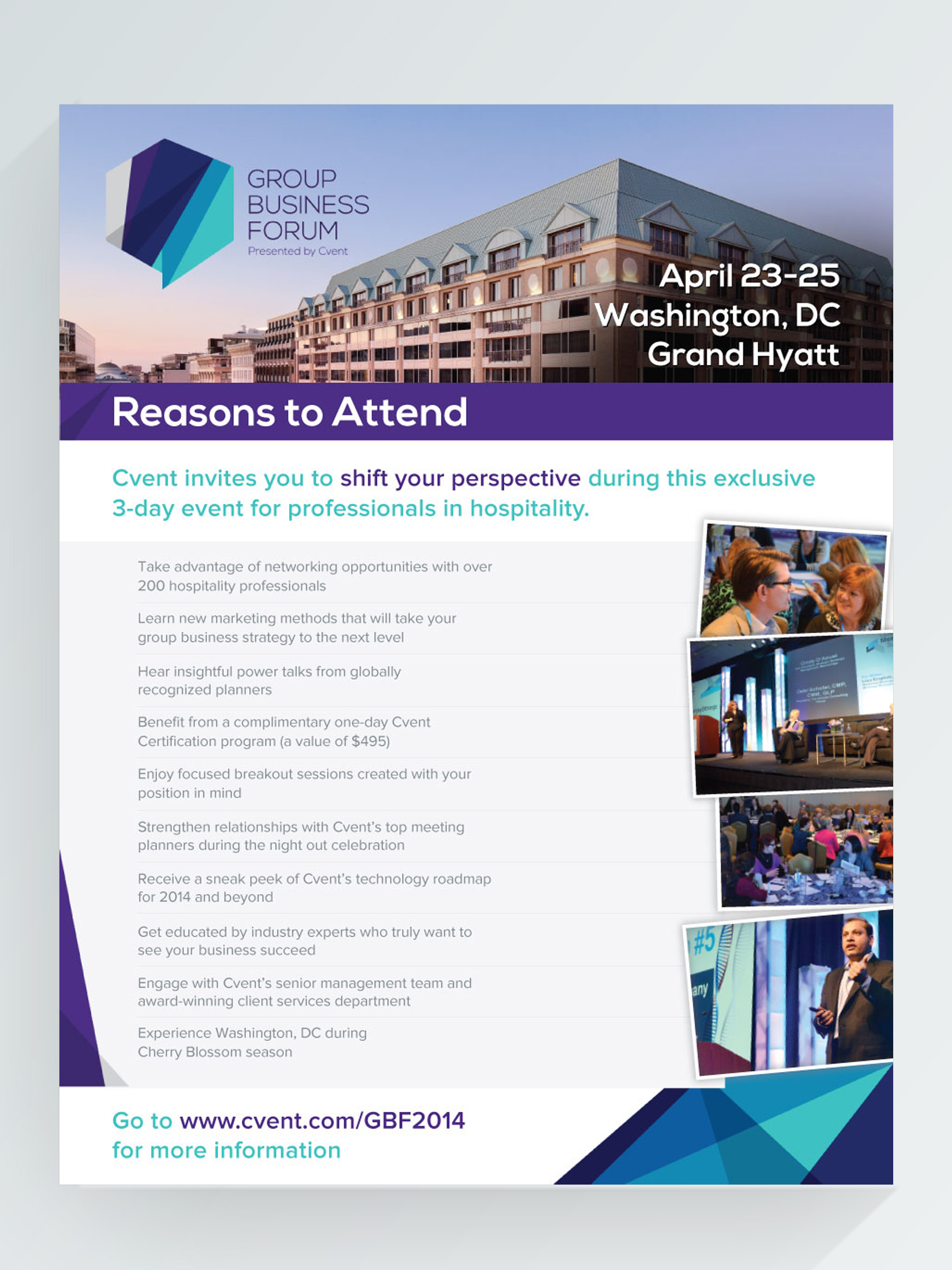 Reasons to attend promotional document