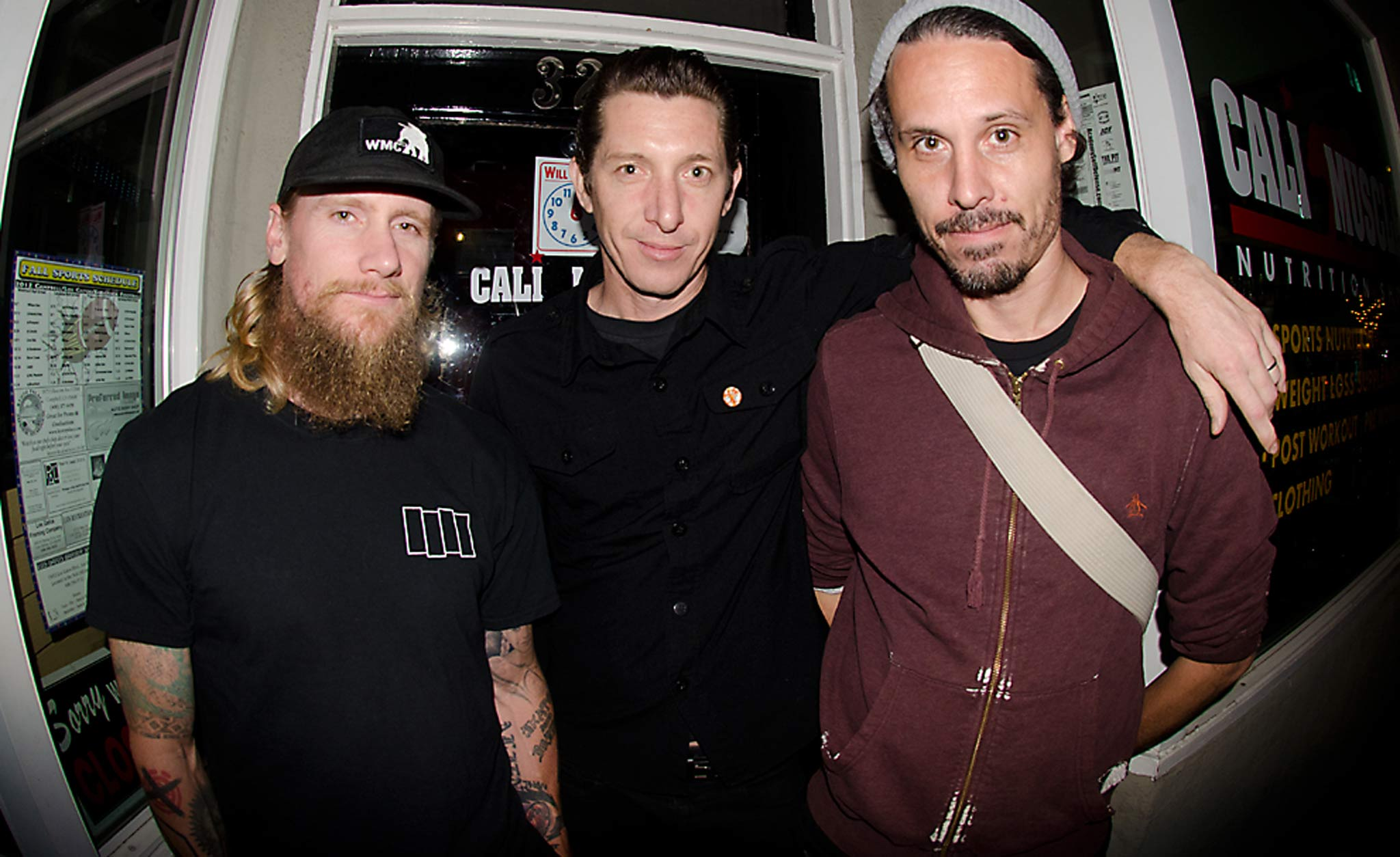 Mike Vallely, Jason Adams, and Myself at a event in San Jose, 2012.