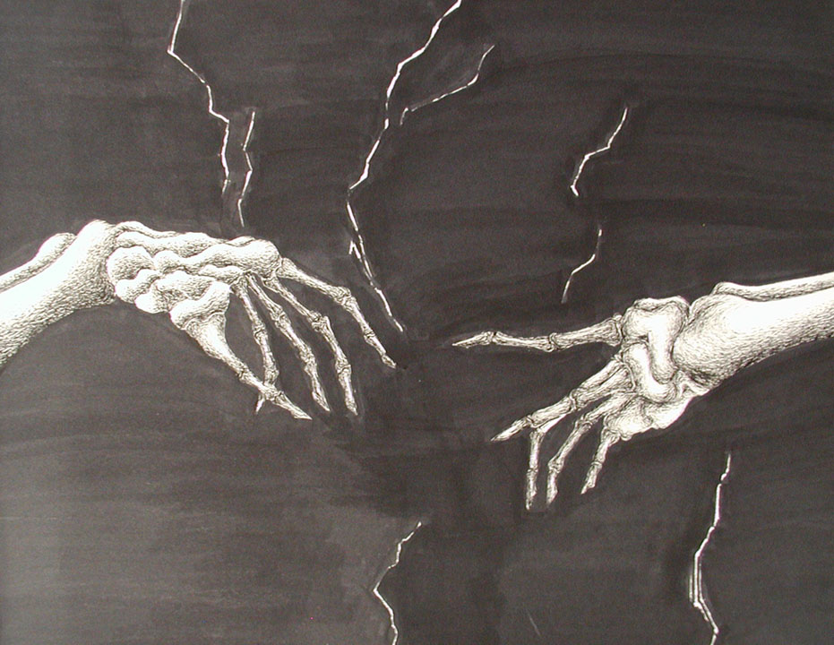 Creation of Adam Redesign as Skeleton Hands