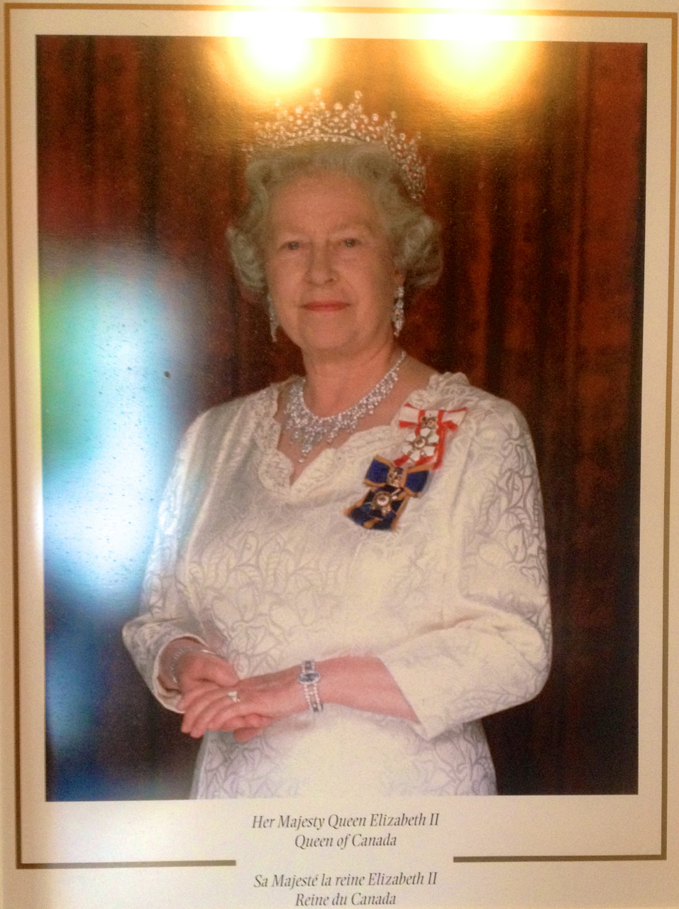 An image of the Queen of Canada adorns the entrance. August 22, 2014.
