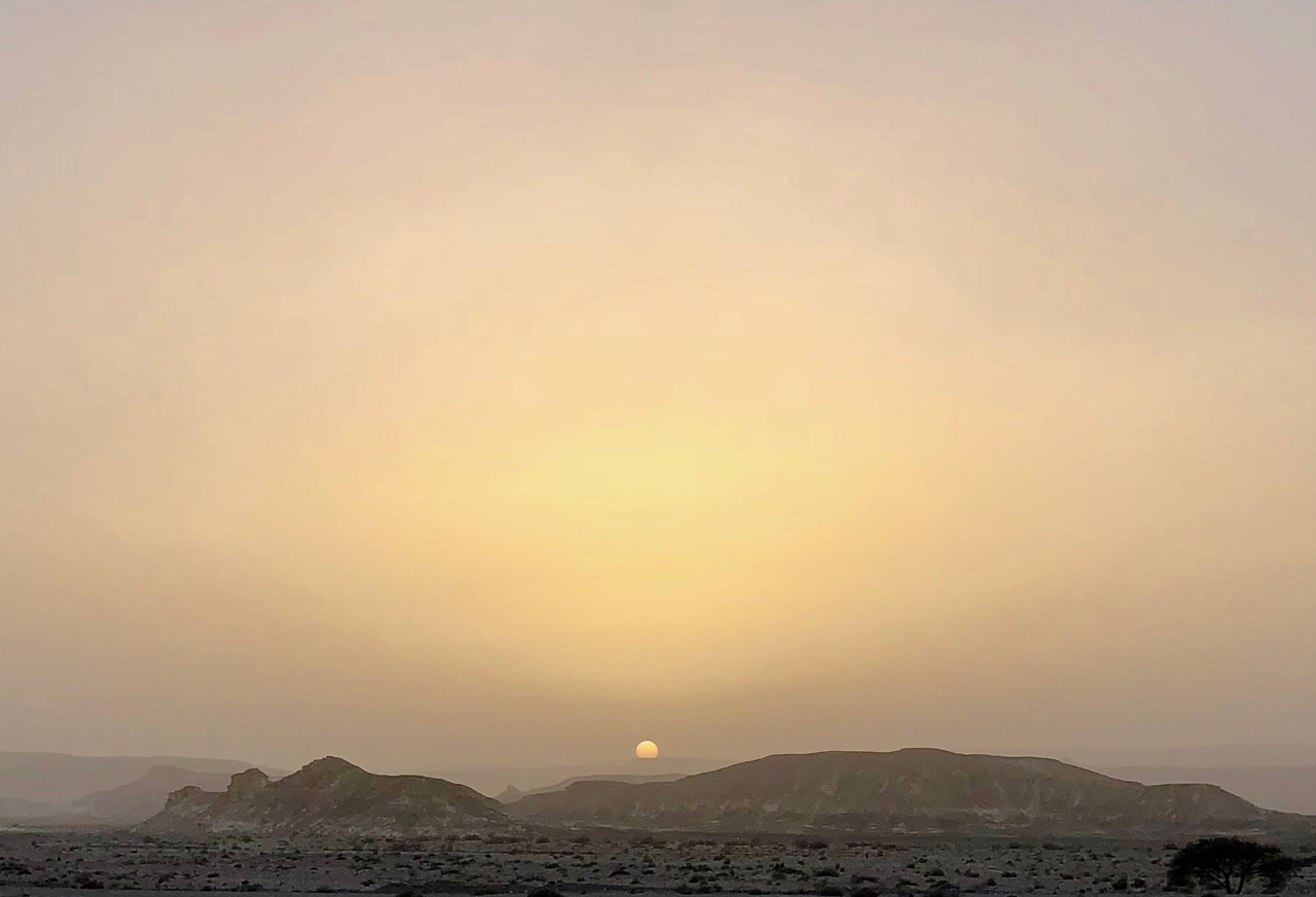 Arabah desert, Israel.  5:59PM, 6 March 2018.  iPhone X.