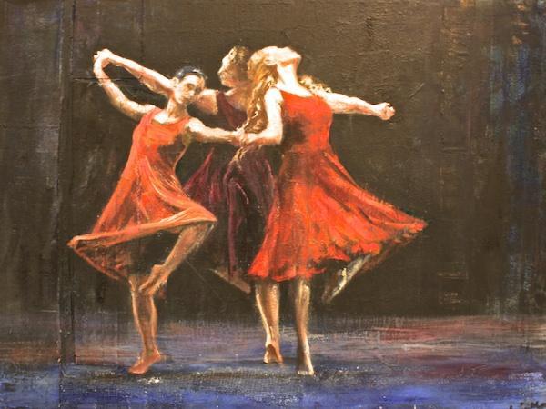 Tango Dreams<br>30 x 40<br>Mixed Media on Canvas<br>$ 2150