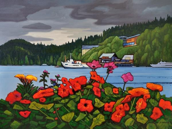 Bamfield Harbour 30 x 40 Oil on Canvas SOLD