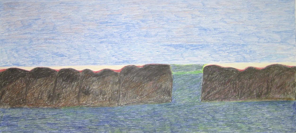 Landscape<Br>25 x 50<Br>Coloured Pencil<Br>$ 1600
