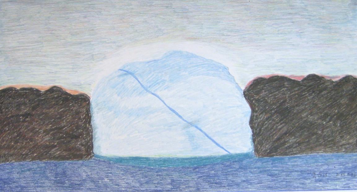 Smal Iceberg<Br>28.5 x 50<Br>Coloured Pencil<Br>$ 1800
