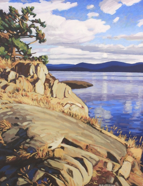 Salt Spring Summer 18.5 x 14.5 Acrylic on Board SOLD