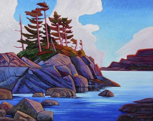 Vancouver Island Seashore 48 x 60 Oil on Canvas SOLD