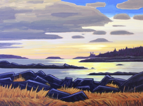 Peaceful West Coast Evening 18 x 24 Acrylic on Canvas SOLD