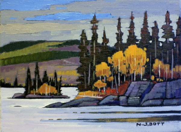 Babine Lake 9 x 12 Oil on Canvas SOLD